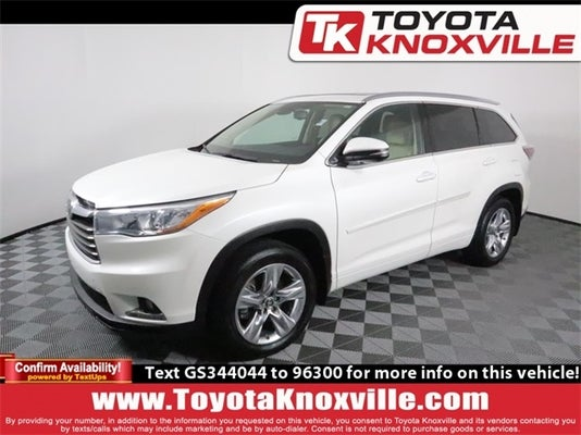 2016 toyota highlander limited platinum in knoxville, tn - toyota knoxville
